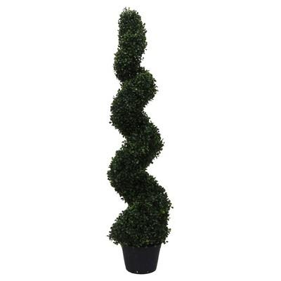 Artificial Boxwood Spiral On Pot (UV) (4') - Vickerman