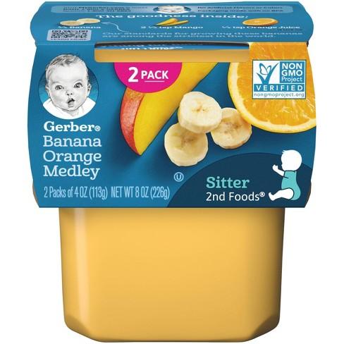 Gerber Sitter 2nd Foods Banana Orange Medley Baby Meals - 2ct/4oz Each - image 1 of 4