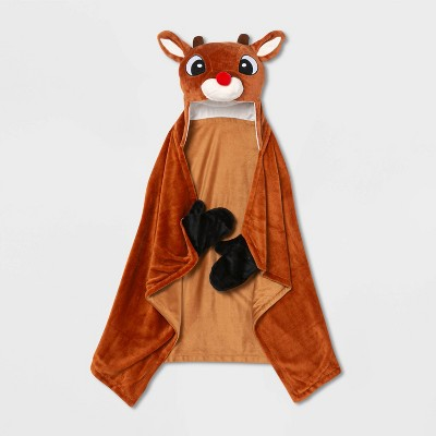 Rudolph the Red-Nosed Reindeer Hooded Blanket