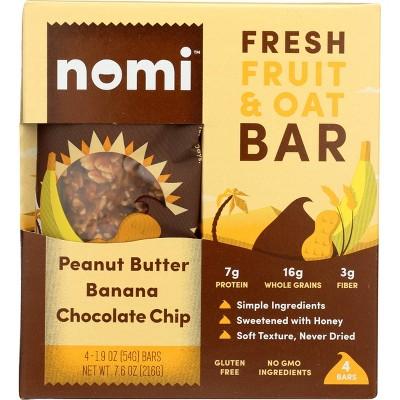 Nomi Bar - Peanut Butter Banana Chocolate Chip - 4pk