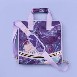 "More Than Magic™ 2"" Zipper Binder - Purple Marble"