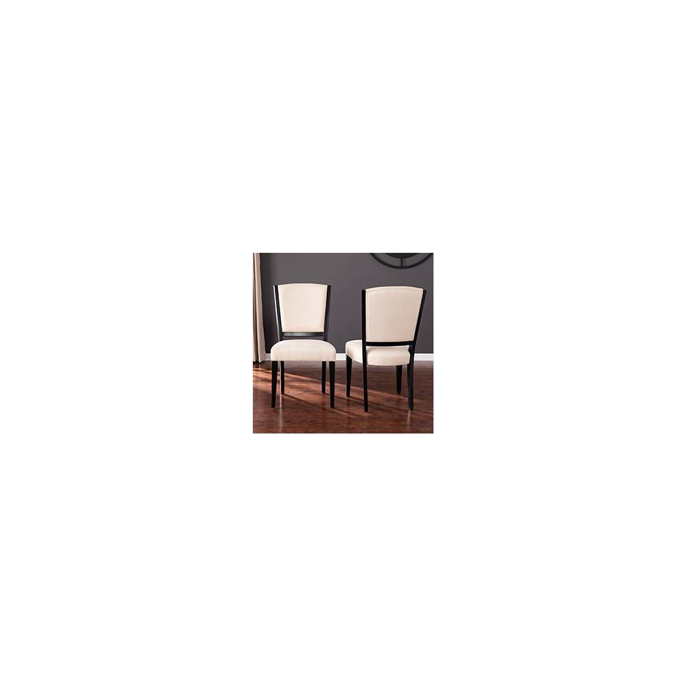 Image of 2pc Drickstan Upholstered Dining Chairs Black - Aiden Lane