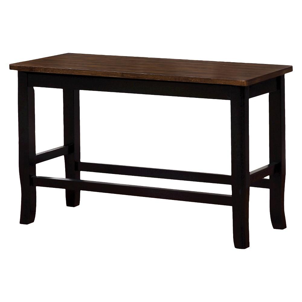 Sun & Pine Sheldon Wooden Two-tone Counter Height Bench, Galaxy Black