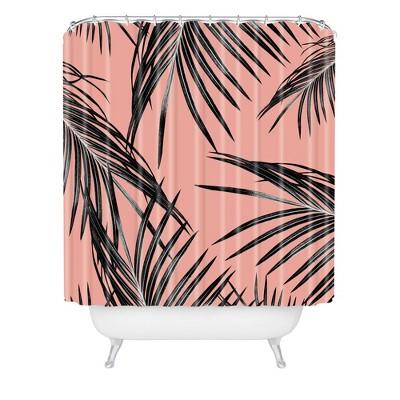 Anita & Bella Art Palm Leaves Dream Shower Curtain Black - Deny Designs