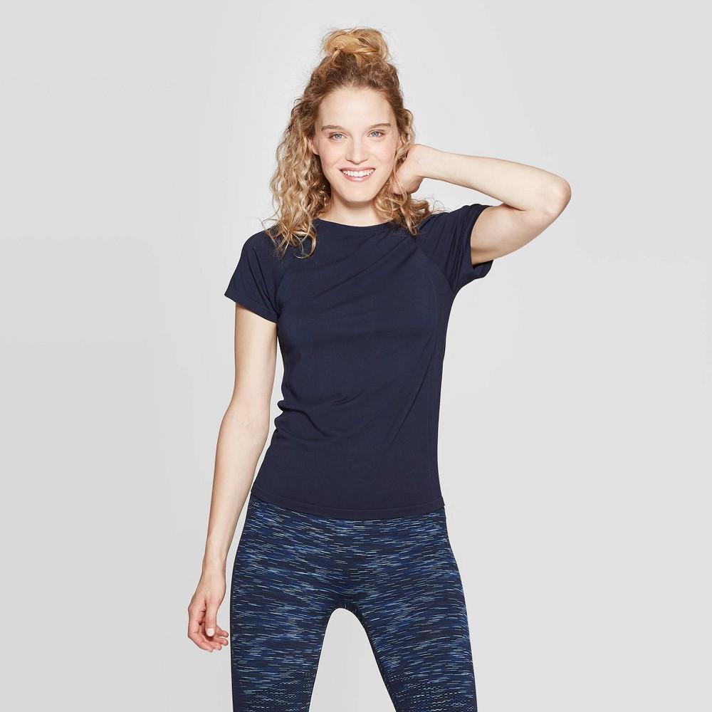Women's Seamless T-Shirt - JoyLab Night Sky XS, Black Blue