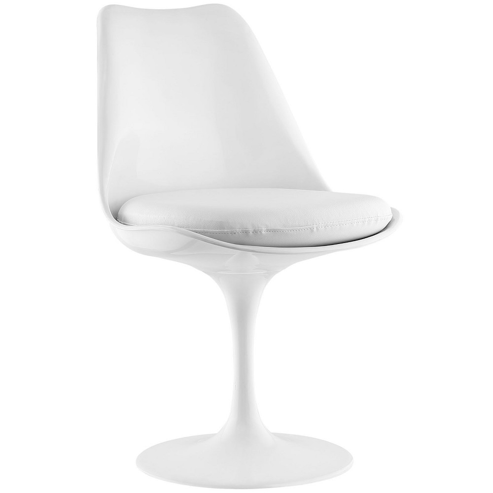 Lippa Dining Vinyl Side Chair White - Modway