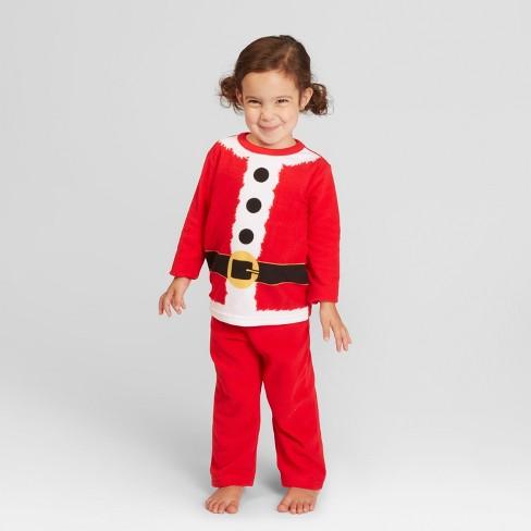 fb6f24f1f6 Toddler Holiday Santa Pajama Set - Wondershop™ Red 3T   Target
