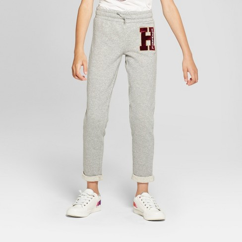Girls' Harry Potter Lounge Pants - Gray - image 1 of 3