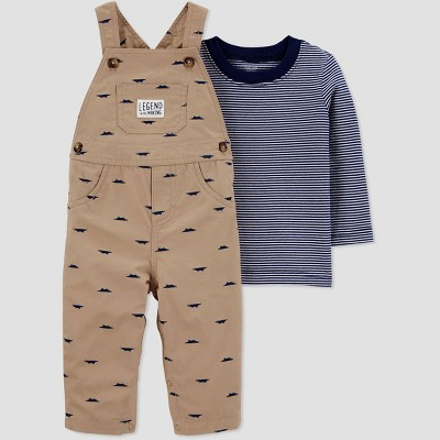 Baby Boys' 2pc Shifley Overall Set - Just One You® made by carter's Khaki 6M