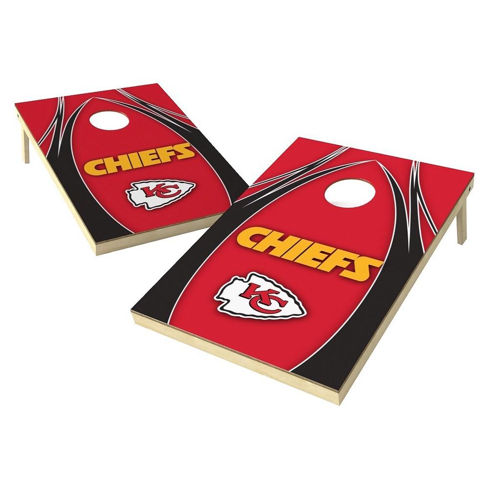 Kansas City Chiefs Wild Sports Platinum Shield Cornhole Bag Toss Set - 2x3 ft.