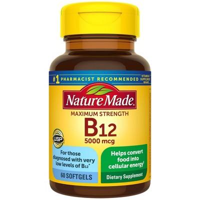 Nature Made Maximum Strength Vitamin B12 5000 mcg Softgels - 60ct