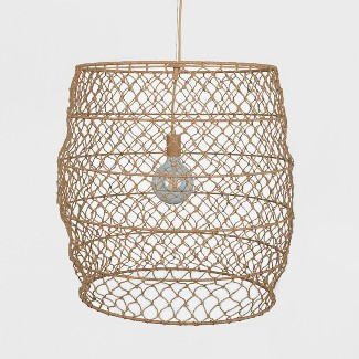 Rope Net Large Pendant Lamp Natural (Includes Energy Efficient Light Bulb) - Project 62™ + Leanne Ford