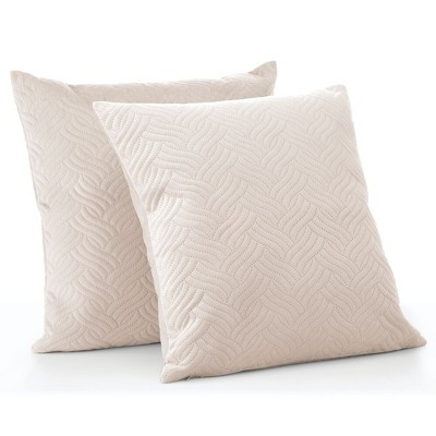 mDesign Decorative Faux Linen Pillow Case Cover 20 x 20 Inches, 2 Pack