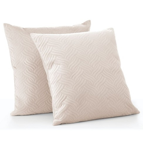 Mdesign Decorative Hypoallergenic Square Throw Pillow Covers Pack Of 2 Cream Target