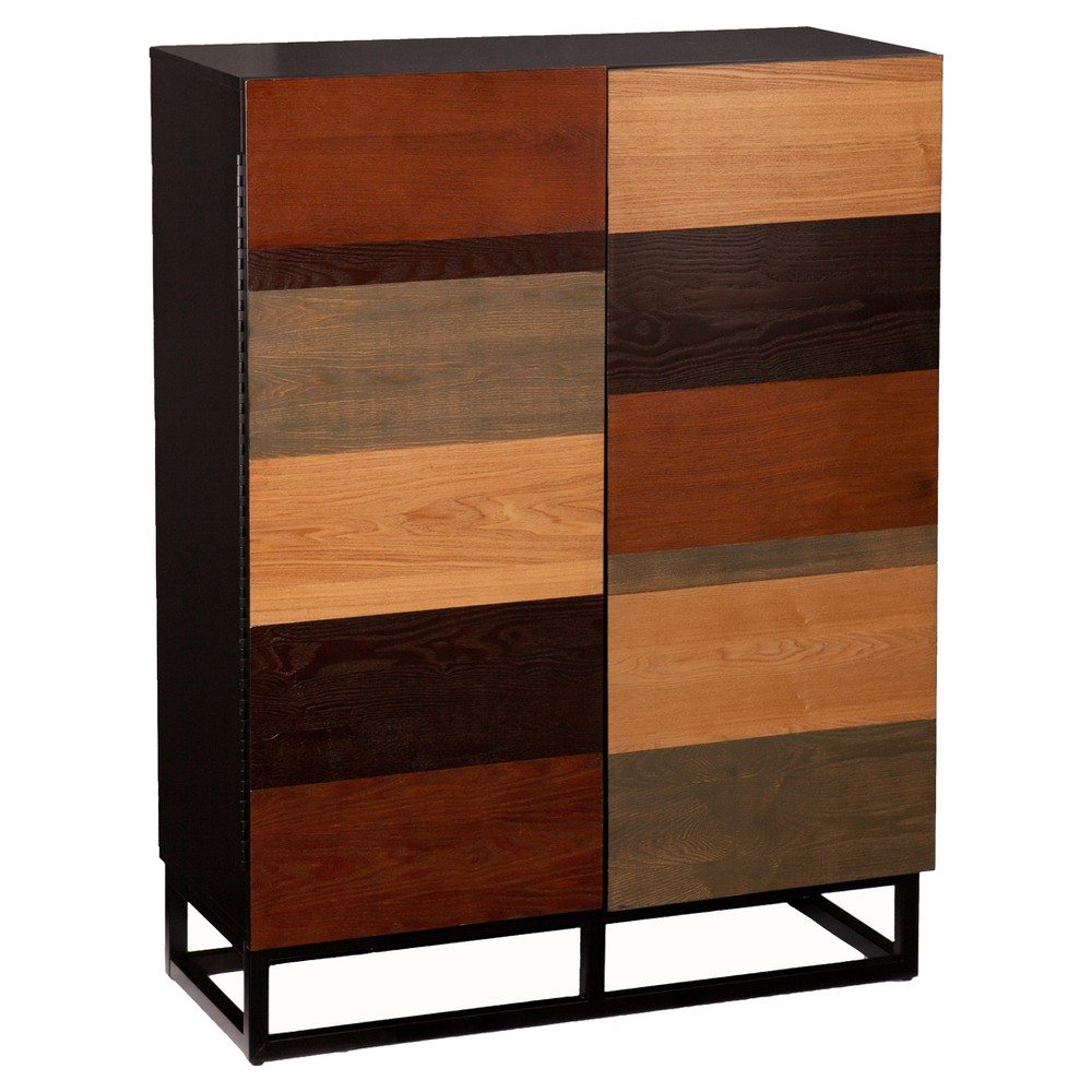 Harvard Bar Cabinet - Multi - Tonal - Aiden Lane, Brown