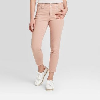 Women's High-Rise Cropped Skinny Jeans - Universal Thread™ Vintage Rose 4