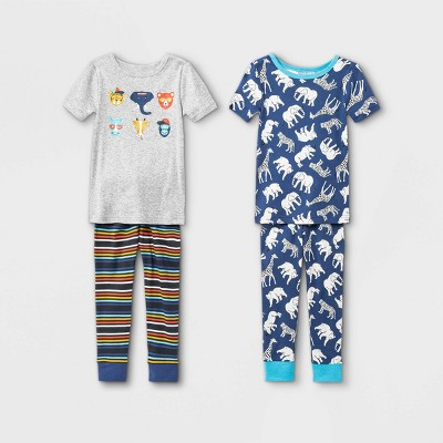 Toddler Boys' 4pc Safari Animals Pajama Set - Cat & Jack™ Gray