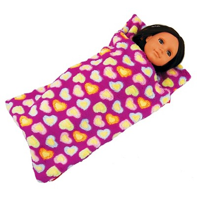 The Queen's Treasures 18 Inch Doll Bedding Accessory, Purple Super Soft Sleepover Party Sleeping Bag