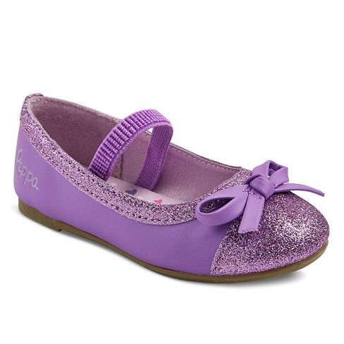 Toddler Girls' Peppa Pig Ballet Flats - Purple - image 1 of 3
