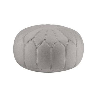 Avery Round Pouf Ottoman Gray