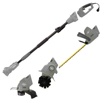 Sun Joe GTS4000E Electric Lawn Care System | Pole Hedge Trimmer | Grass Trimmer | Garden Tiller.