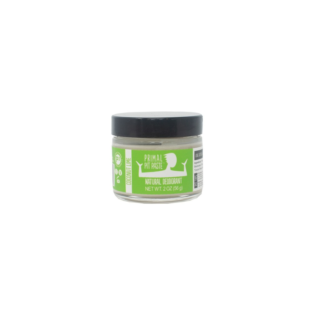 Image of Primal Pit Paste Coconut Lime Natural Deodorant Paste - 2oz