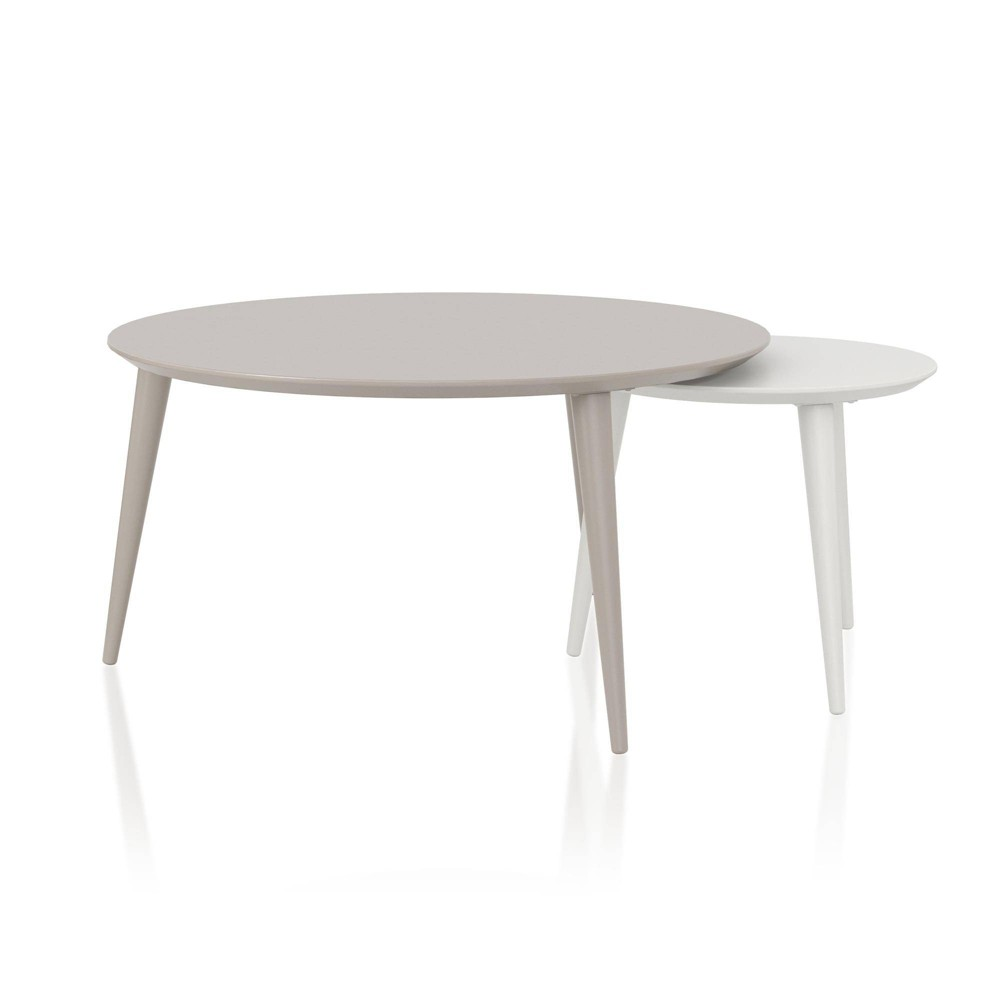 Carnegie Nesting Tables White - CosmoLiving by Cosmopolitan