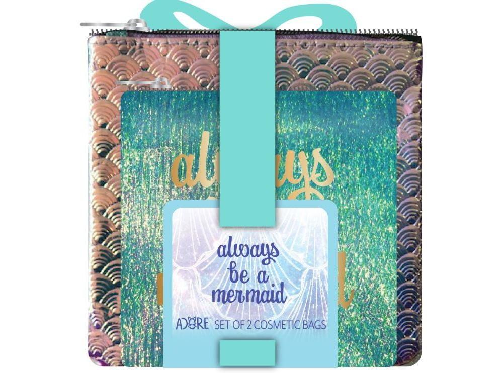 Image of Adore Always Be a Mermaid Bag Set - 2pc, Mermaid Teal