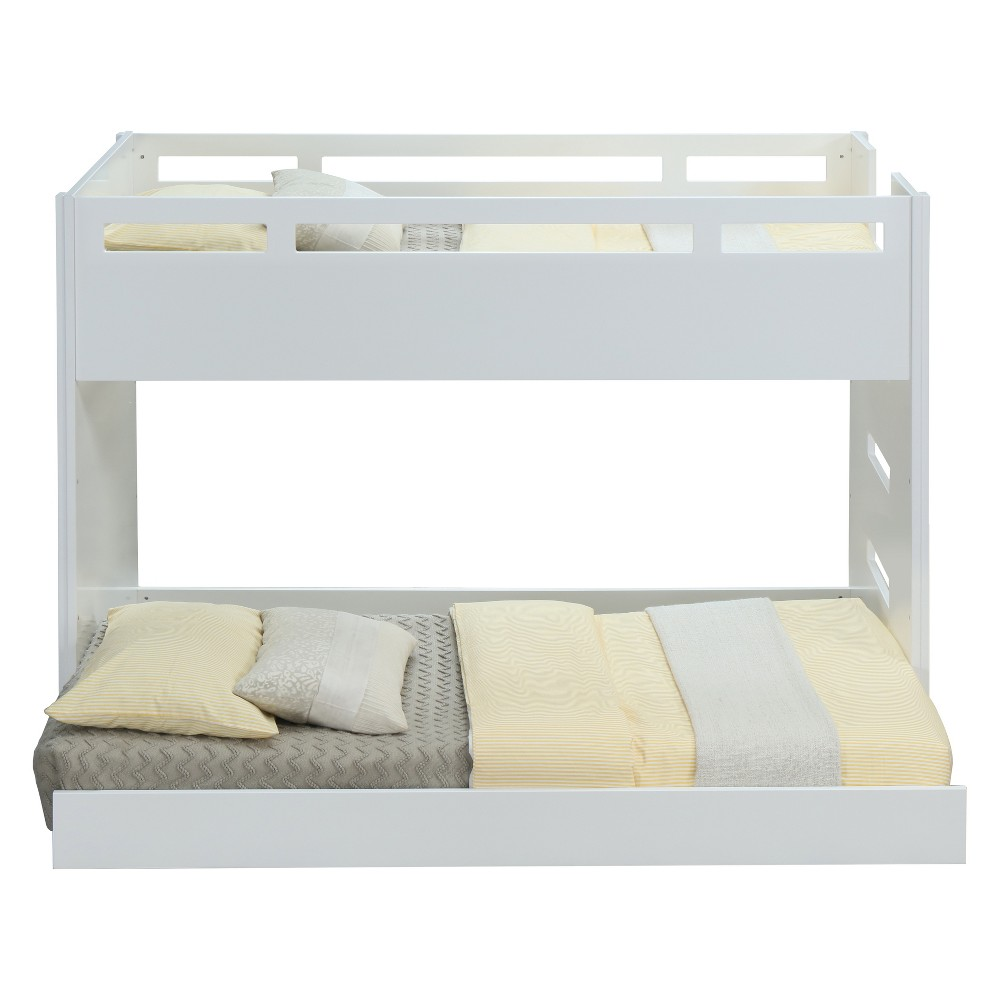 Image of Acme Furniture Deltana Twin Loft Bed and Twin Trundle White