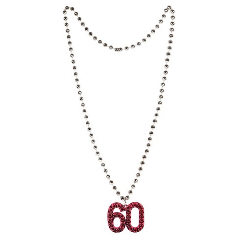 60th Birthday Beaded Necklace - image 1 of 1