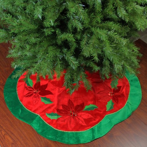 Sequined Poinsettia Christmas Tree