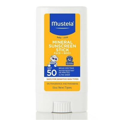 Mustela Mineral Baby Sunscreen Stick - SPF 50 - 0.6oz