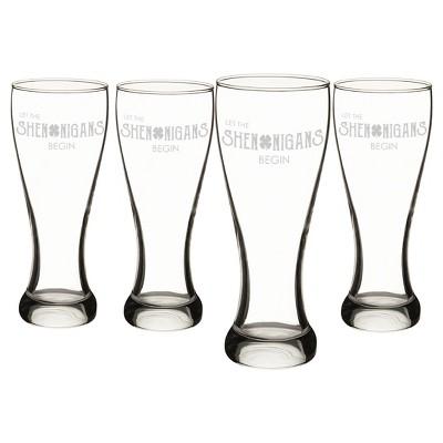 4ct St. Pat's Shenanigans Pilsner Glass