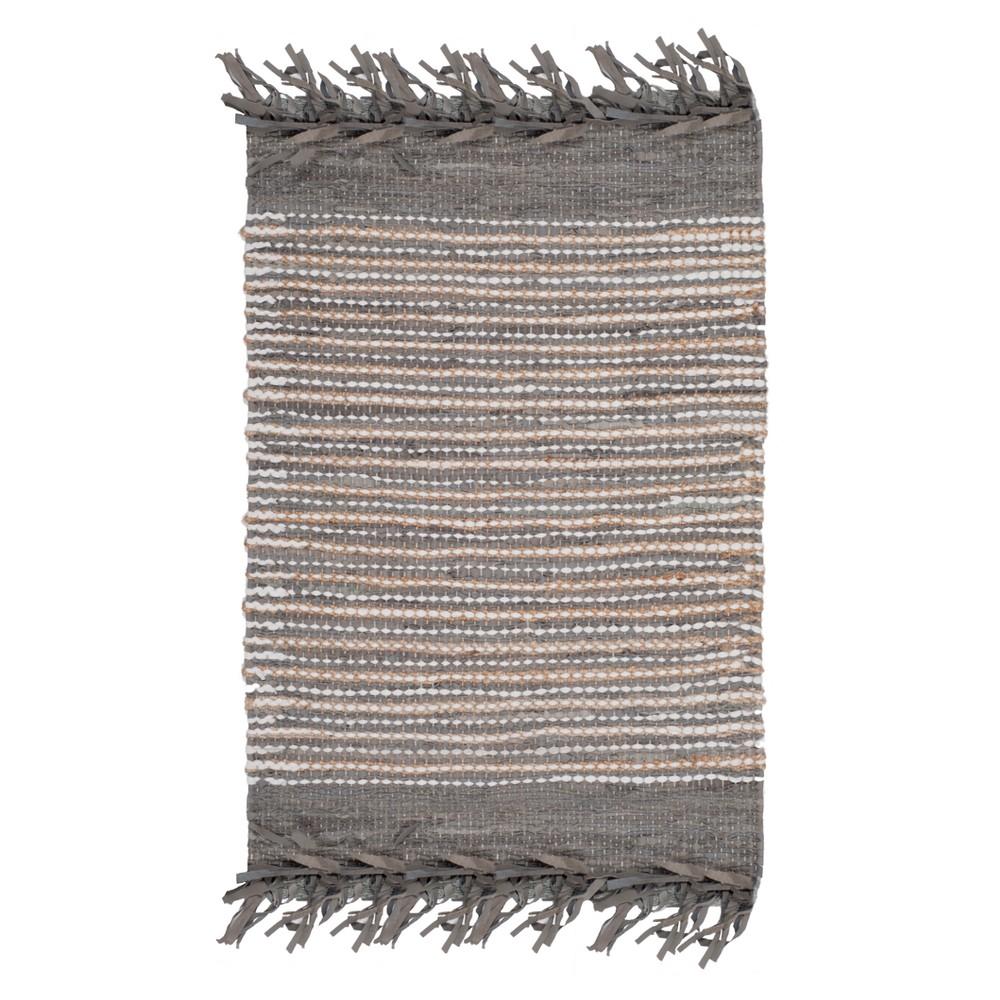 Gray Stripe Woven Accent Rug 3'X5' - Safavieh, Graynmulti-Colored