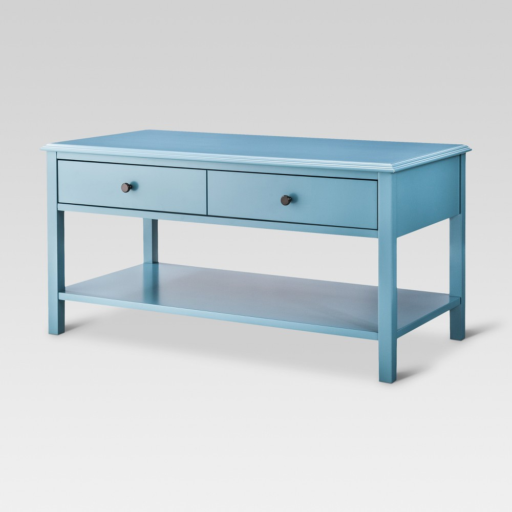Windham Coffee Table - Teal (Blue) - Threshold