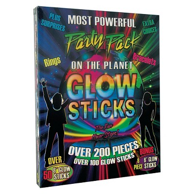 200ct Glow Stick Party Pack