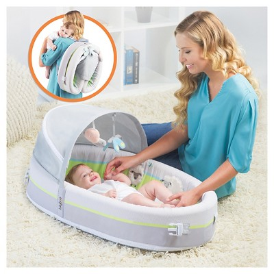 Lulyboo Baby Lounge To-Go Premium Travel Bed