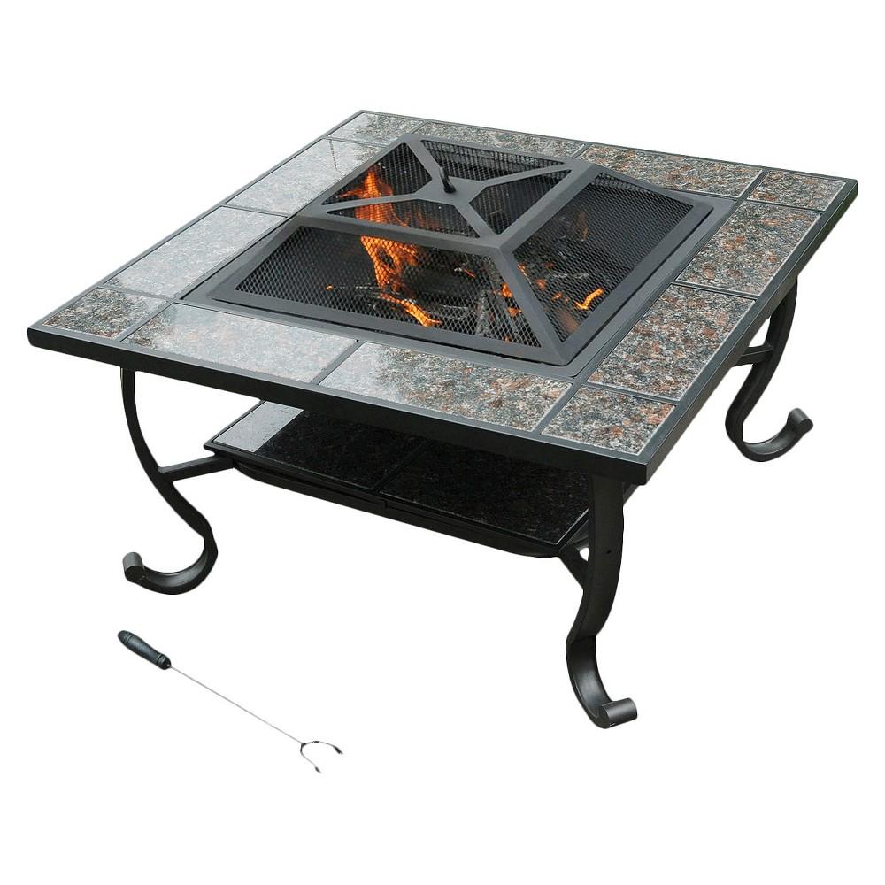 leisurelife Granite Fire Pit / Coffee Table - 34, Multi-Colored