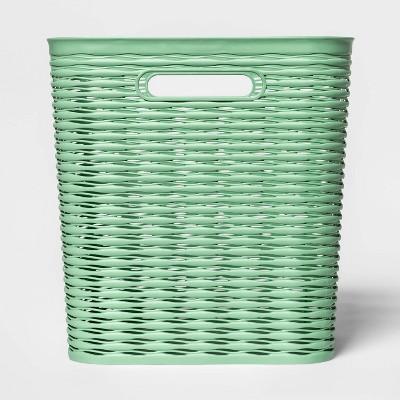 "11"" Wave Cube Basket Crisp Green - Room Essentials™"