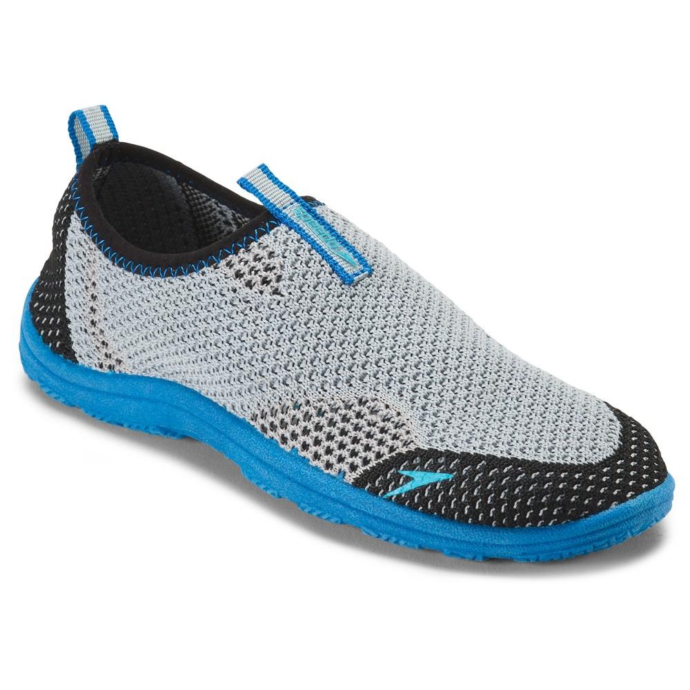 Speedo Jr Boys' Surfwalker Knit Water Shoes - Gray (Large)
