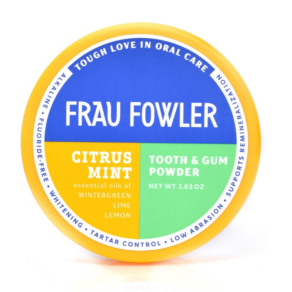 Image of Frau Flower Citrus Mint Tooth & Gum Powder - 2.3oz