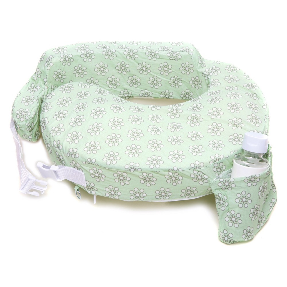 Image of My Brest Friend Original Nursing Pillow - Sage Daisies, Green