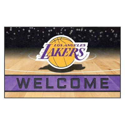 "NBA Los Angeles Lakers Crumb Rubber Door Mat 18""x30"""