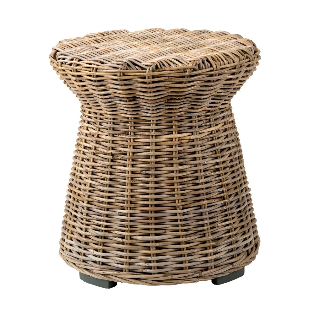 Akiman Rattan Accent Table Brown - East At Main