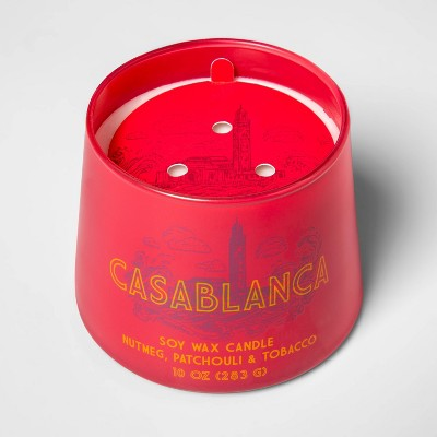 10oz Tapered Glass Jar Single Wick Candle Casablanca - Opalhouse™