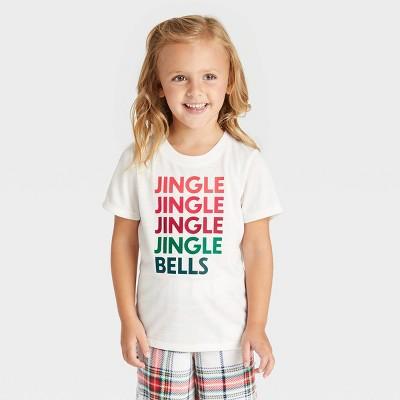 Toddler Holiday 'Jingle Bells' Matching Pajama T-Shirt - Wondershop™ White
