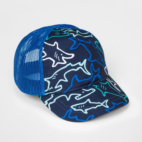 6a5f74def85 Baby Boys  Shark Baseball Hat - Cat   Jack™ Navy   Target