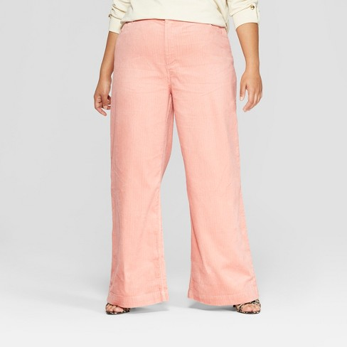 adeeed6bbef8 Women s Plus Size Corduroy Street Sweeper Pants - Who What Wear™ Pink