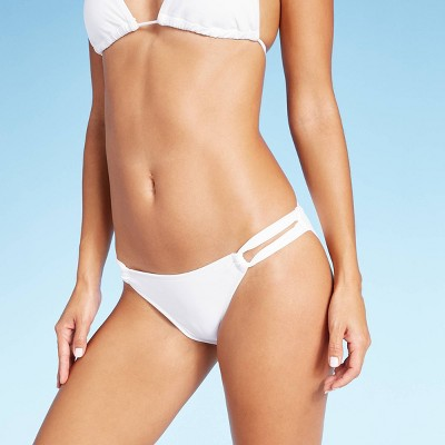 Women's Loop Side Hipster Bikini Bottom - Xhilaration™ White L