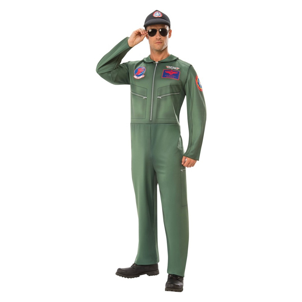 Men's Top Gun Halloween Costume XL, Multicolored